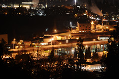 Nikon D3100 Night Cityscape (C. Campbell) Tags: street city chris light white black cars night oregon buildings painting photography lights nikon long exposure downtown shoot butte c trails eugene springfield roads spencer scape campbell hdr ccampbell d3100