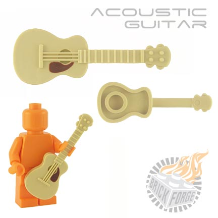 Acoustic Guitar - Tan (brown pickguard print)