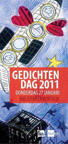Affiche Gedichtendag 2011 in de Kortrijkse bibliotheek