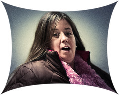 Linda's Surprise (Geoff LMV) Tags: portrait people woman cute girl photoshop work pretty distorted pentax coworker bodylanguage linda surprise aficionados notjeff k20d smcpentaxfa50mmf14 lightroom3 justpentax elements6 pinkfluffything geofflmv