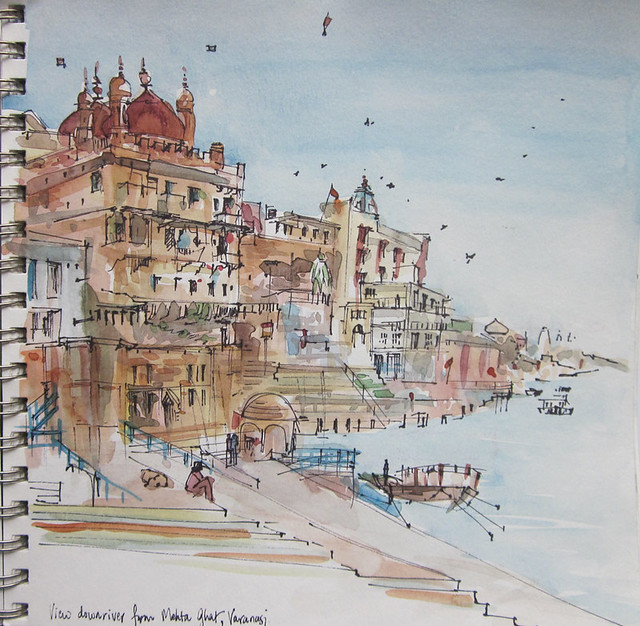 On the Ghats, Benaras, India