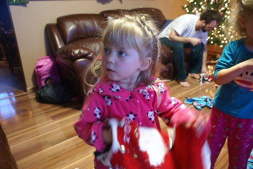 Vivianne on Christmas Morning