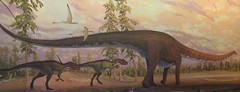 (Not So) Old Paleoart at MOS - Allosaur mural