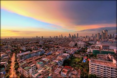 The Glowing Urban Sprawl of Bangkok (I Prahin | www.southeastasia-images.com) Tags: sunset orange buildings thailand concrete skyscrapers suburban bangkok metropolis glowing suburbs hdr tonemapped superaplus aplusphoto sathornroad bestcapturesaoi elitegalleryaoi gettyimagessoutheastasiaq1