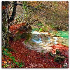 Urederra (saki_axat) Tags: longexposure nature water canon river landscape eos tokina filters navarra urederra 1116 50d nd8 nacedero