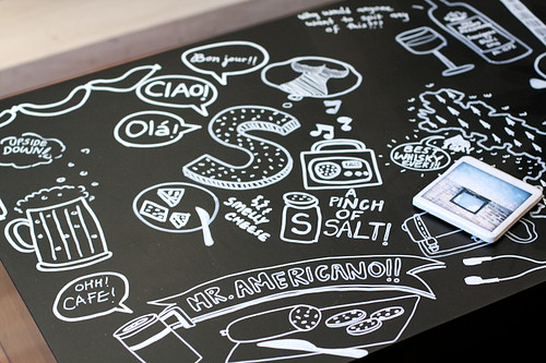 Detail: DIY Doodled Table