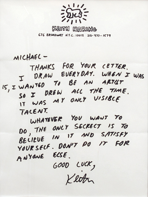 Keith Haring letter