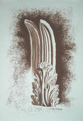 conte crayon sketch of plaster casting[1]