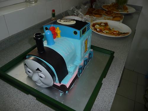 Thomas the Tank Engine cake for Scott's birthday party