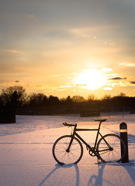 Trek T1 Winter Sunset Vertical