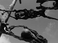 famine (hmb52) Tags: ireland bw sculpture skeleton death mayo westport starvation diaspora connacht emigration thewest murrisk coffinship johnbehan westmayo nationalfaminememorial