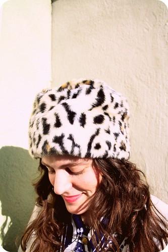 Cheetah Russian Hat
