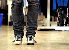 a damaged soul (TRISTAN TRISTAN) Tags: me shop him shoe tape converse damage them why ipswich