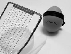 Egg's-ecution (stu.mandry) Tags: bw food easter funny egg humour eggs blindfold