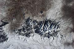 Mountain range in Montana, USA (astro_paolo) Tags: mountain montana nasa iss esa internationalspacestation earthfromspace europeanspaceagency expedition26 magisstra