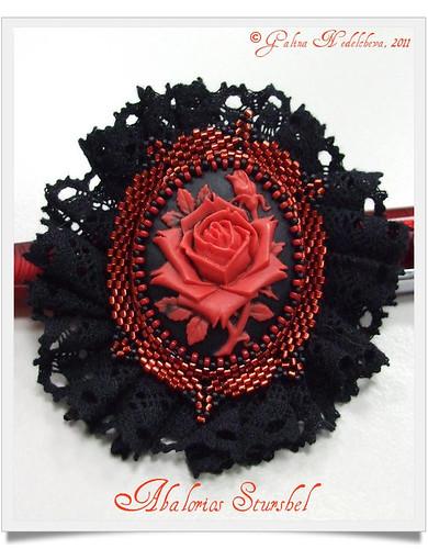 Broche Rosa Vintage tuneado