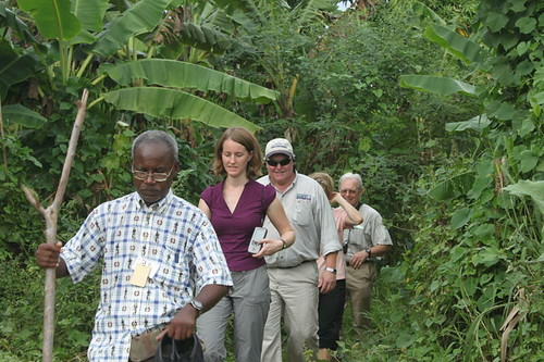 Team in field (L-R): Emmanuel Prophete, MARNDR; Emily Spiegel, FAS; Jimmy Moore, NRCS; Denise Hann, Forest Service; and Mike McGahuey, FAS assigned to USAID.