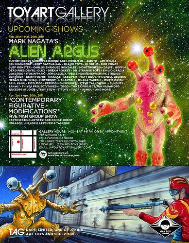 Alien Argus Show ad Toy Art Gallery
