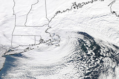 Classic Nor'easter plowed up the East Coast of the United States [Detail]
