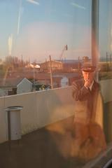 En voiture ! (Marinnae) Tags: reflection station train tren gare reflet reflejo estacion flickrchallengegroup