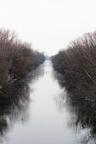 Chicago River winter 1