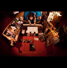Day Sixteen (ODPictures Art Studio LTD - Hungary) Tags: portrait musician woman girl room piano books bori claret gödöllő szoba zongora bordó könyvek zenész orbandomonkoshu