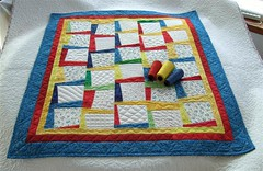 Primary Colors Baby Quilt full with cones (Medium)