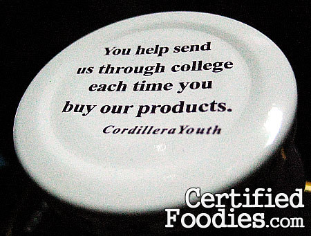 Message on the cover of Good Shepherd's Ube Jam - CertifiedFoodies.com