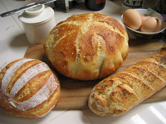 trio of bread