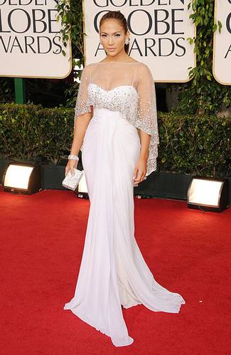 I think Jennifer Lopez has made it a point to let us know she loves white, and this Zuhair Murad is painted on her.