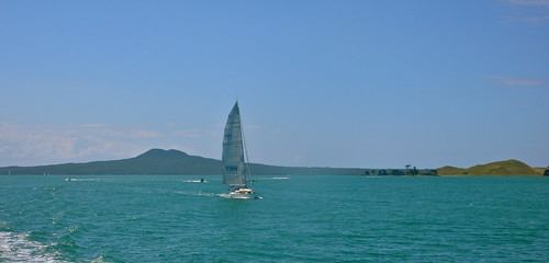 Rangitoto and yacht