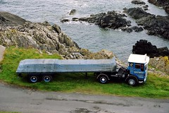 Leyland Buffalo HUD 377L (gylesnikki) Tags: sea heritage truck wagon scotland buffalo lorry portpatrick leyland roped johnward sheeted