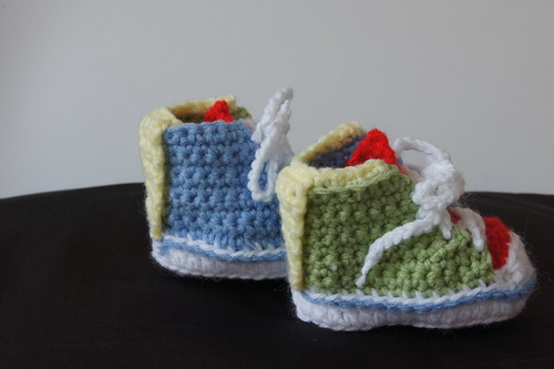 New born crochet High tops