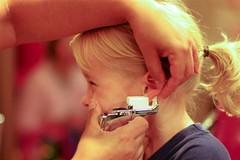 Lily's ears pierced