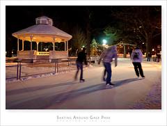 Skating Around Gage Park  Brampton (Light Forger) Tags: park winter snow ontario canada cold ice sport night landscape fun nikon play skating skaters skate recreation gazeebo brampton gage gagepark d700 lightforger