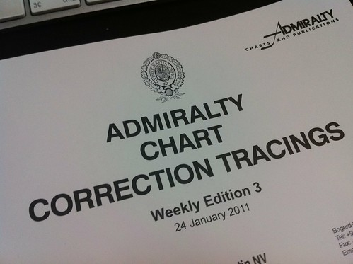 Admiralty Chart Correction Tracings