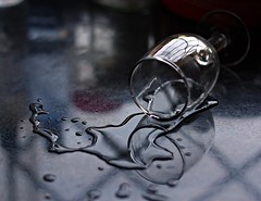 Spilt Water (aprna) Tags: wineglass liquid cwd spiltwater stillfood manipulatedwater 52weeks2011 cwd2102 cwdweek210 52weeks2011week3