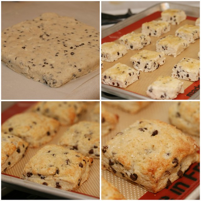 Chocolate Chip Cream Scones Collage