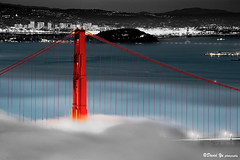 The world most famous red bridge (davidyuweb) Tags: world bridge light red fog golden amazing gate view famous most sfbay sfist the