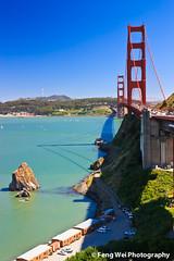 Golden Gate Bridge, San Francisco (Feng Wei Photography) Tags: ocean sanfrancisco california travel bridge sea summer usa beauty landscape cityscape scenic goldengatebridge scenary sanfranciscobay