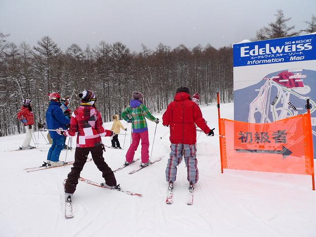 Edelweiss雪場的半山腰