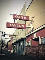 Oasis Tavern () Tags: street old city urban usa brick classic tourism architecture bar club america vintage way interesting downtown neon antique decay south united center location historic retro oasis tavern gathering americana neonsign tacoma states viewpoint oldbuilding oldsign stylish 253 highway99 southtacomaway greatrecession