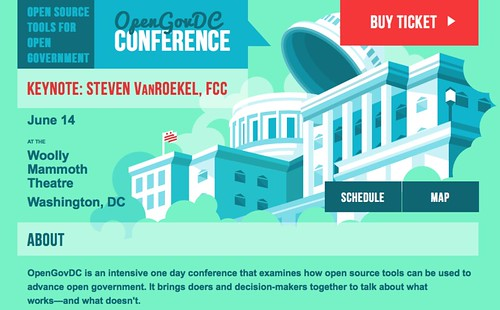 OpenGovDC Conference is on June 14 in Washington, DC