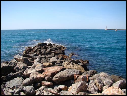 Espigón playa Almería