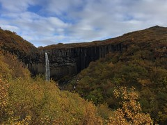 Vatnajkull National park, Svartifoss. Iceland - September 2016. (darrenboyj) Tags: wate waterfall autumn autumnal view views landscape icelandic vatnajkull iceland svartifoss