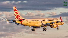 Virgin Australia E190 (Green 14 Pictures) Tags: aviation avporn avgeek airport airplane aircraft air airlines airline airfield australia embraer e190 vhzpt virginaustralia mel melbourne ymml va voz sunrise strobe