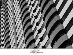 Architectural (Fawaz Abdullah) Tags: windows white abstract black building geometric buildings architectural designs stripping    jiddah
