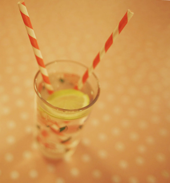 stripey straw.