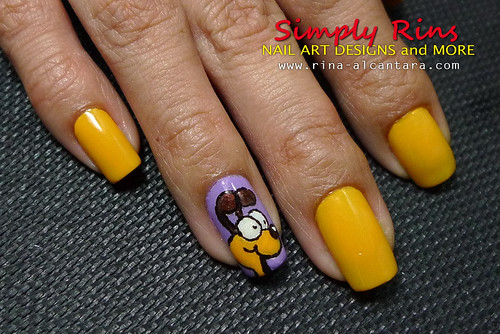 Nail Art Garfield 05