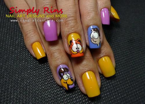 Nail Art Garfield 06